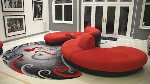 Living Room Furniture Leather And Upholstery Astounding Red Upholstery Leather Modular Sectional Sofa Living