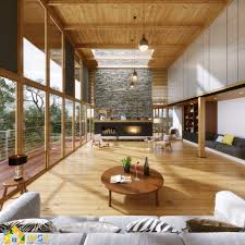 Interior Design Rendering Services Lake House 3d Rendering Services Project 3d Architectural