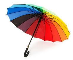 Znalezione obrazy dla zapytania parasol tęcza