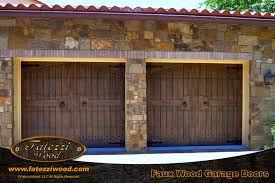 wooden garage doorsFaux Wood Faux Garage Doors  FATEZZI WOOD INC