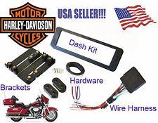 harley radio harness harley davidson touring radio stereo cd dash install kit wiring harness adapter