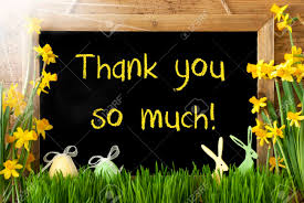 Thank You Easter Sunny Narcissus Easter Egg Bunny Text Thank You So Much