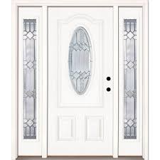unfinished front doorFeather River Doors 675 inx81625inMission Pointe Zinc 34 Oval