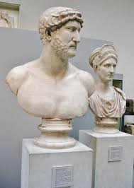 portrait busts of the r emperor hadrian ad and his nd  portrait busts of the r emperor hadrian ad 117 138 and his 2nd cousin matidia