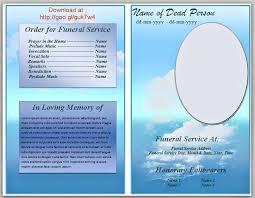 Free Funeral Program Template Word Templates Memorial 2007