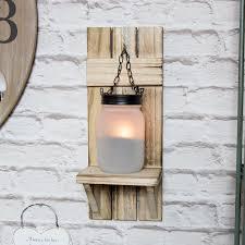 mason jar tealight holder wall sconce