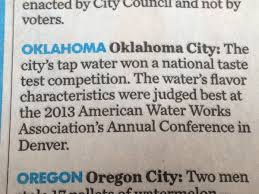 Okc Has The Nations Best Tasting Water Game Over Other Places