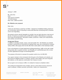 Advertisement Letter Examples Write Advertising Proposal Samples
