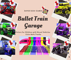 Kids Activities: Bullet Train Garage | Learning Colors for Children ...