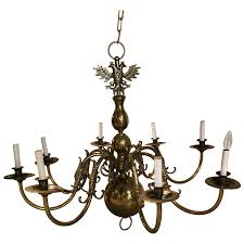 viyet designer furniture lighting traditional federal style eight light brass chandelier