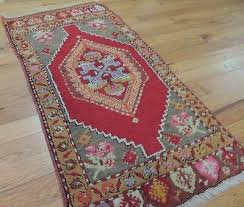 details about 2x3 2x4 turkish oriental area rug beige red wool geometric red pink gray