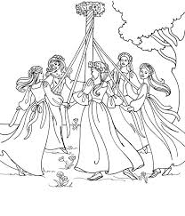 Small Picture Maypole Dancing on May Day Coloring Pages Maypole Dancing on May