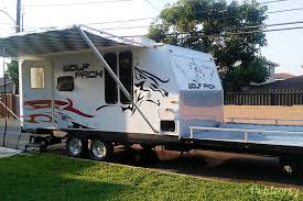exterior 2009 forest river cherokee wolf pack front deck toy hauler pomona