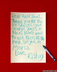 Thank-You Notes From Kids | Martha Stewart