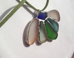 soldered sea glass necklace
