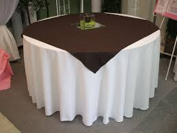 dazzling wihte cloth round tablecloths for alluring dining table decor