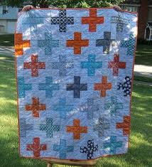 54 best orange & blue quilts images on Pinterest | Baby presents ... & Blue, orange and gray