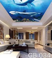 3D ECO-FRIENDLY CEILING MURAL Wallpaper ...