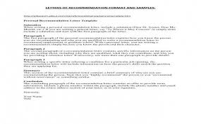 Letter Of Recommendation For Graduate School Sample Awesome Graduate