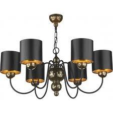 garbo traditional bronze ceiling pendant light black shades