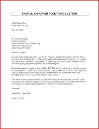 Sample Cover Letter For Job Acceptance Cover Letter