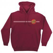 Classic Dot P O Hooded Pullover Hooded Santa Cruz Mens Sweatshirt