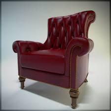 red leather chair.  Leather Red Leather Chair Tufted In O