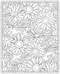 Large Coloring Pages Large Print Flower Coloring Pages Simple Out