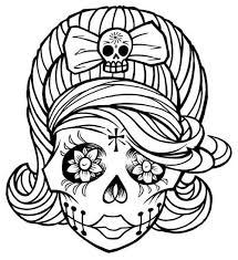 Small Picture skull coloring pages pdf