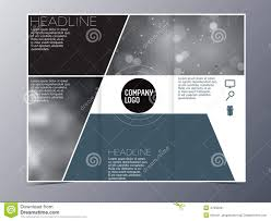 Modern Brochure Design Blue Green Modern Brochure Design Template Vector Trifold Stock 2