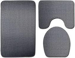 Get-in 3pcs Bathroom Carpet Set Printed Non Slip ... - Amazon.com