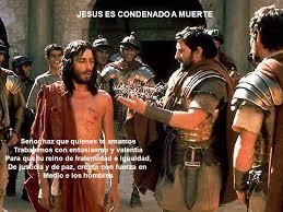 jesus condenado a muerte