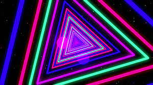 Triangle Colorful Neon Streaks Loop ...