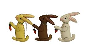 Gisela Graham 3 Felt Easter Bunny Decorations   Gifts From Handpicked