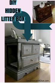 cat litter box furniture diy. DIY Hidden Litter Box From SandpaperAndGlue.com Cat Furniture Diy I