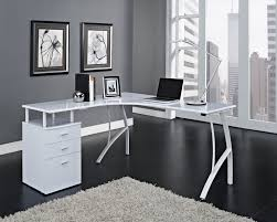 white office desks for home. Beautiful Modern White Desk And Contemporary Computer With Black Or Corner Office Desks For Home M