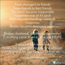 From Strangers To Friend Quotes Writings By Pooja Khandhadia