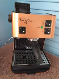 The coffee machine is equipped with a computerized menu which makes it easier for starbucks baristas to prepare cappuccinos and lattes. Copper Starbucks Barista Espresso Machine Sin006 Made In Italy Works Perfectly 1730676916