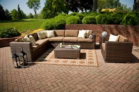 outdoor patio furniture sectional brown color