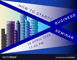 Seminar Design Template Business Seminar Poster Design Template
