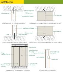 lightweight fiber cement concrete clean room partition board