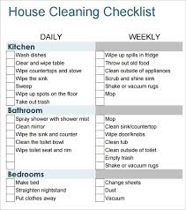 cleaning checklists sample house cleaning checklist 9 documents in pdf word