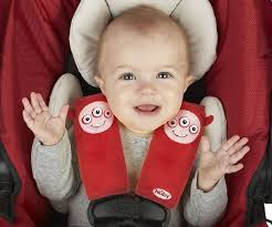 nuby strap covers monster red infant car seat