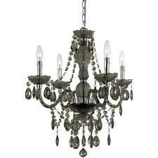 af lighting 8351 4h four light mini chandelier smokey new in box