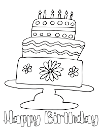 These would be great for a kid to color and give to his mom, dad, grandma, grandpa, or we added a plain happy birthday coloring page to color for an aunt, uncle, friend, or anyone you want your little one to wish a happy birthday to. Happy Birthday Cake Free Coloring Page Stevie Doodles