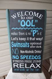 Swimming Pool Decor Signs Pool Sign Ool Rules Pool Rules Hand Painted Outdoor Sign 4