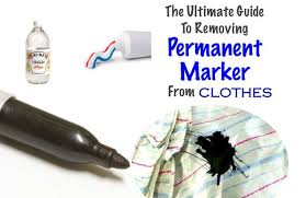 10 effective ways to remove permanent marker stains from clothes