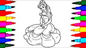 Unique Disney Princess Belle Coloring Pages Design Printable