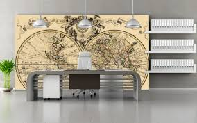 office wallpaper ideas.  office vintage map of the world wallpaper mural home decoration for living room  kitchen office or with ideas