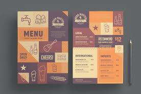 Beer Menu Template Royalty Free Vector Image Beer Menu Template ...